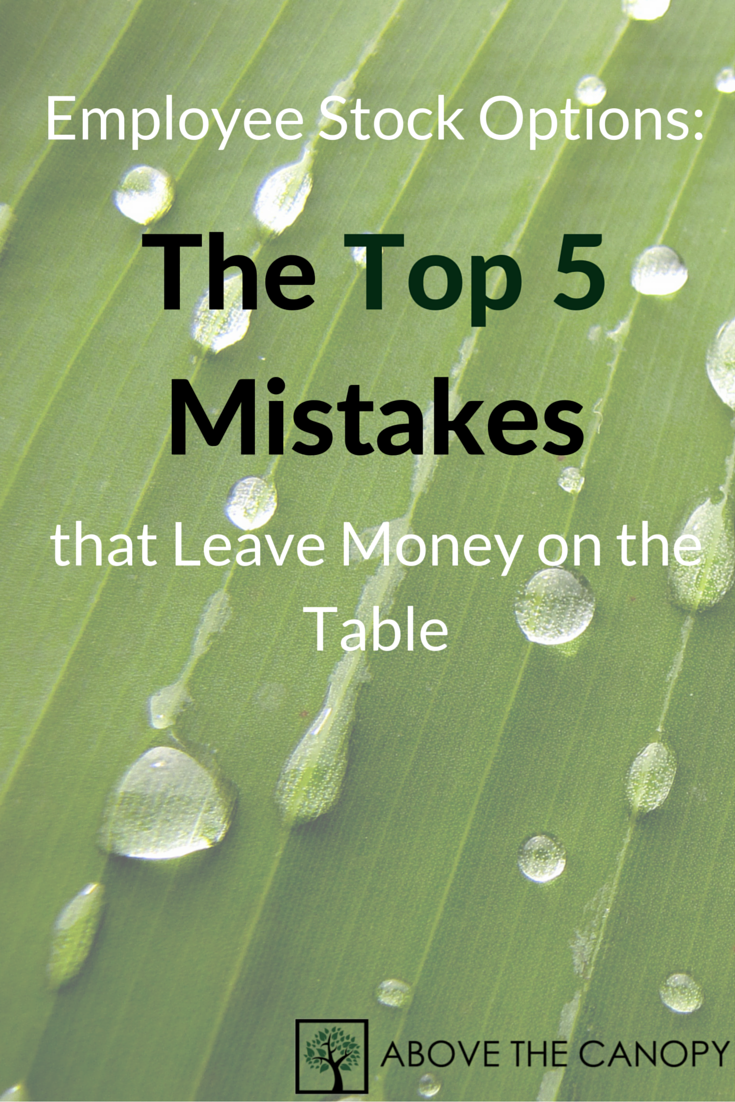 Employee Stock Options 5 Top Mistakes that Leave Money on the Table