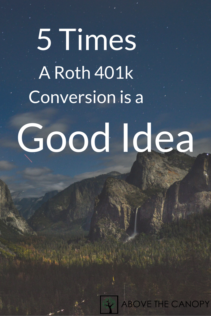 5 Times a Roth 401k Conversion is a Good Idea