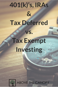 401(k)s, IRAs & Tax Deferred vs. Tax Exempt Investing